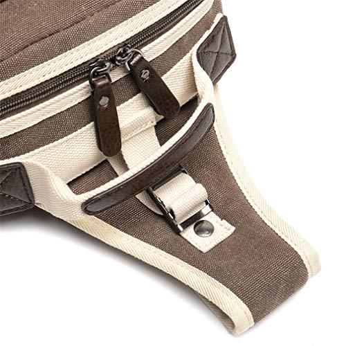 Crossbody Bags Casual Hipster Knapsacks Men Canvas Black Bag Chest Messenger High Travel Patchwork qcUARR