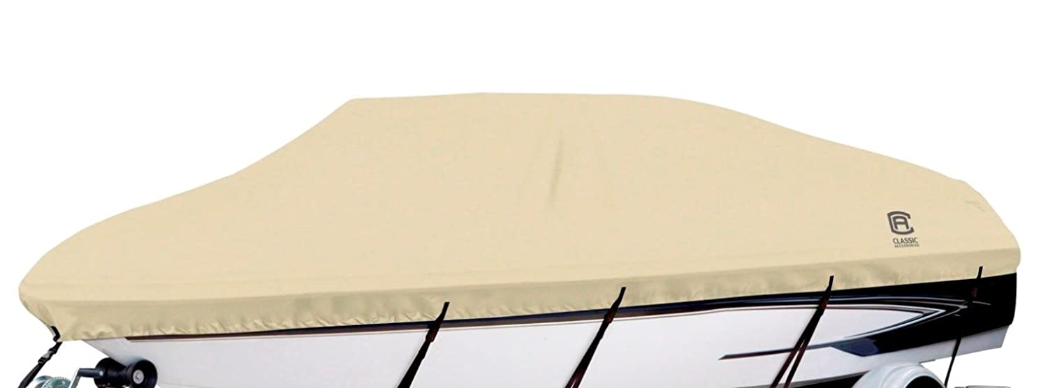 Classic Accessories Dryguard Waterproof Boat Cover (20-Feet-22-FeetL/Tan) 20-087-122401-00
