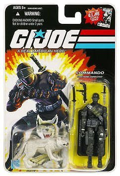 G.I. Joe 25th Anniversary: Snake Eyes (Commando) & Timber Wolf 3.75 Inch Action (25th Snake Eyes)