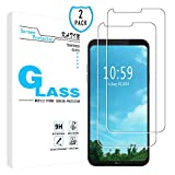 KATIN LG Q6 Screen Protector - [2-Pack] for LG Q6 Tempered Glass Screen Protector Bubble Free, 9H Hardness with Lifetime Replacement Warranty