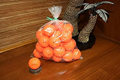 30 Loose Crystal Golf Balls (2 Piece Distance) Orange