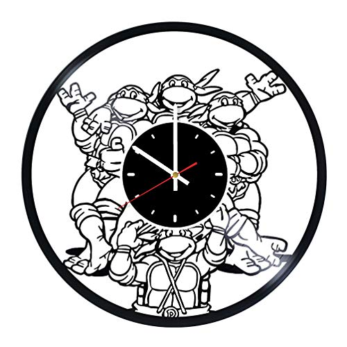 Teenage Mutant Ninja Turtles Vinyl Wall Clock Great Gift for Men, Women, Kids, Girls and Boys, Birthday, Christmas Beautiful Home Decor - Unique Design That Made Out of Vinyl LP Record