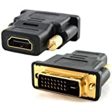 Importer520 Gold Plated HDMI Female to DVI-D Male Video Adapter