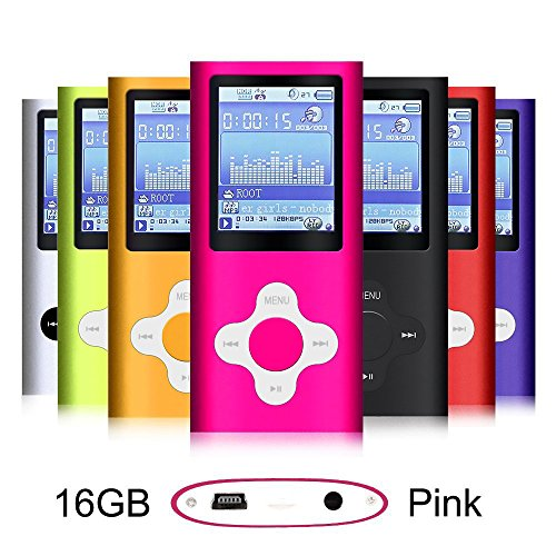 G.G.Martinsen Pink 16GB Versatile MP3/MP4 Player with Photo