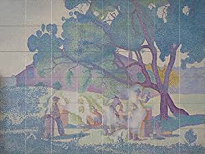 Le fermi matin by henri edmond cross 48 for Crossing the shallows tile mural