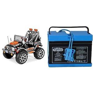 Peg-Perego-Gaucho-Rockin-Ride-On-Black-with-12-Volt-Battery-Bundle