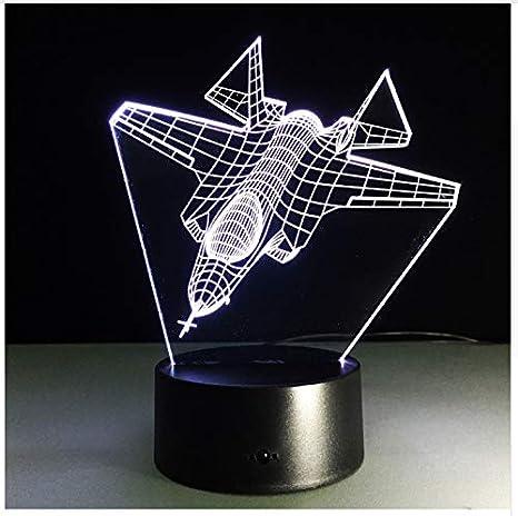 Lámpara 3D Cambia De Color 7 Luz De La Noche De Combate ...