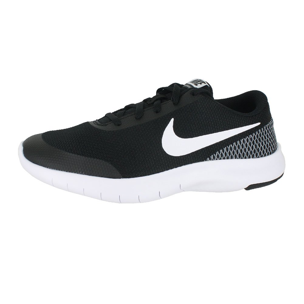 Nike Kids Flex Experience RN 7 (GS) Black White White Size 4 by Nike (Image #2)