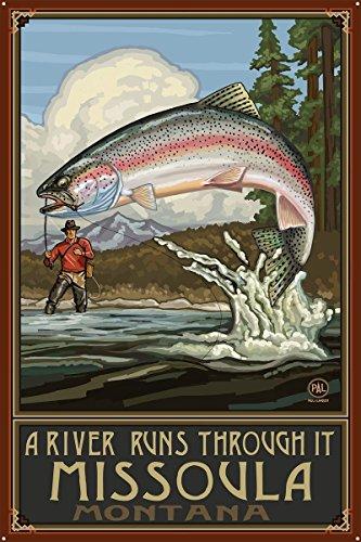 A Riv Runs Through Missoula Montana Metal Art Print by Paul A. Lanquist (24