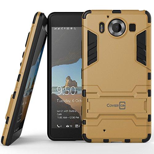 Lumia 950 Case, CoverON® [Shadow Armor Series] Hard Slim Hybrid Kickstand Phone (C1100 Series)