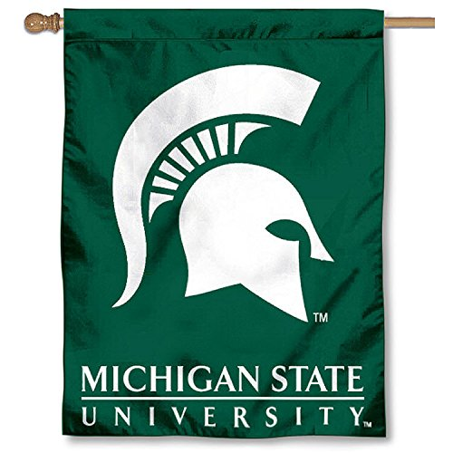 College Flags and Banners Co. Michigan State University Spartans House Flag