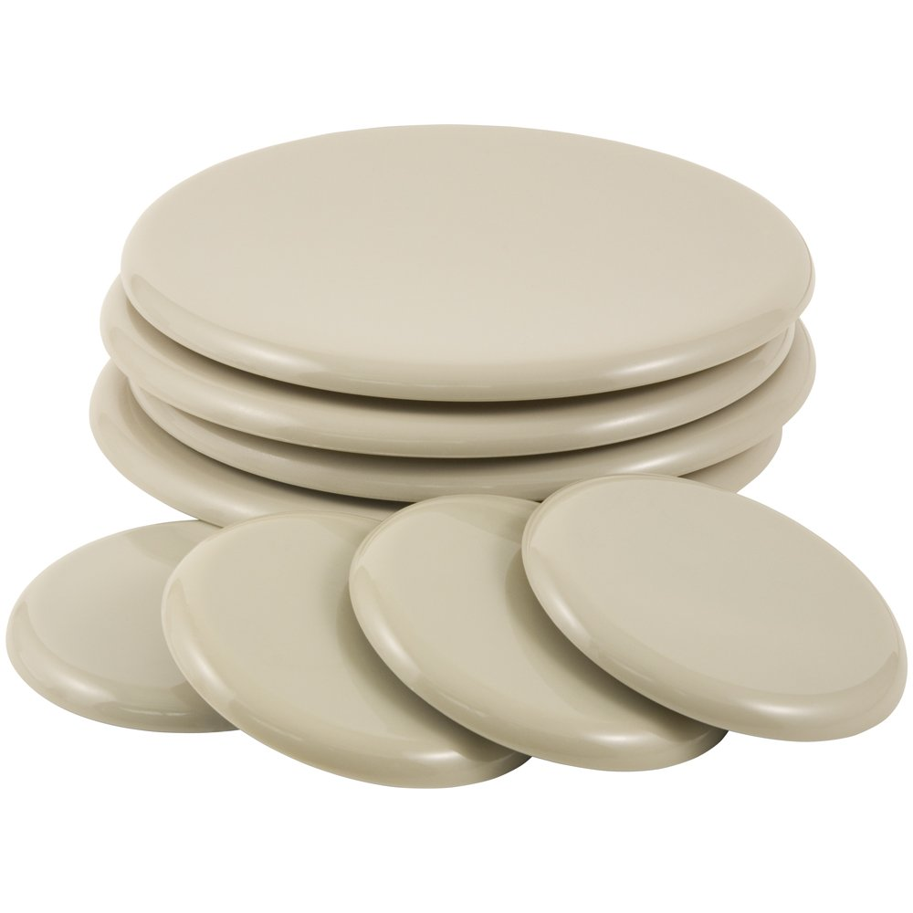 Reusable Heavy Furniture Movers Kit for Carpeted Surfaces (8 pack) - (4) 3-1/2'' Round SuperSliders and (4) 7'' Round SuperSliders