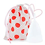 Heart Felt Menstrual Period Cup - Soft Comfort Fit - Best Non-Toxic, Pliable & Reusable Feminine Care - (Medium/Large for Post Childbirth)