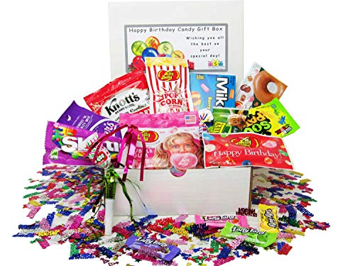Happy Birthday Candy Gift Box - Happy Cookie Birthday Bouquet