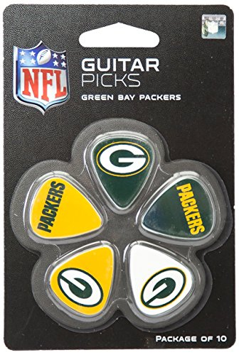 NFL Green Bay Packers Guitar Pick (10-Pack), 1-Inch x 1-3/16-Inch, Green Green Bay Packers Custom Room