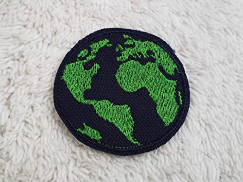 WORLD GLOBE Embroidered Iron-on Patch