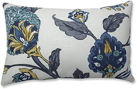 Pillow Perfect Auretta Peacock Throw Pillow, Rectangular, Grey