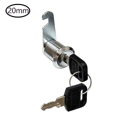 VLOGA 1 Cerradura de la Leva con 2 Clave Adecuado para la Buzón, Cajón, Armario, Archivador y así