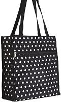 Black White Polka Dots Travel Tote Bag 12-inch