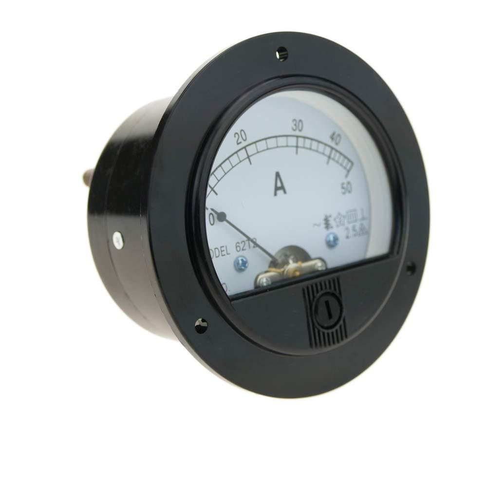 BeMatik - Meter elektrisch analog fü r Platte Runde 70mm 50A Amperemeter BeMatik.com