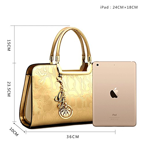 Red Tassel Rose Women Shoulder AVERIL Tote Gold G for Bag Satchel Handle Bag Handbag Purse Crossbody Top WZqq6YRw
