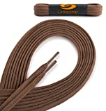 OrthoStep Cotton Flat Dress Thin 30 inch Light Brown Shoe laces 2 Pair Pack