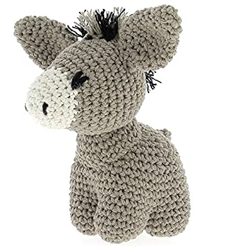 Hoooked Amigurumi Eco Barbante Diy Häkelset Esel Joe Taupe Amazon