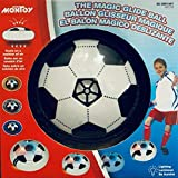 Hover Ball Air Power Soccer Disc - The Magic Glide Ball. Kids Sports Toys. Pneumatic Suspended Floating Hockey Football, Foam Bumpers and LED Lights, Gliding Training Ball for Indoor and Outdoor Activities Games, Boys Girls Children Toys Christmas Gift