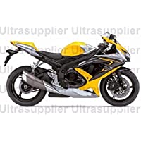Yellow Black Silver Injection Fairing Complete for 2008-2010 Suzuki GSXR 600 750