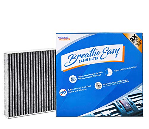 Spearhead Premium Breathe Easy Cabin Filter, Up to 25% Longer Life w/Activated Carbon (BE-854) (Nissan Filter Rogue Cabin Air)