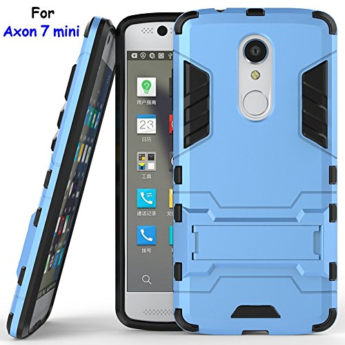 Axon 7 mini Case, ZTE Axon 7 mini Case, MicroP(TM) Dual Layer Armor Hard Slim Hybrid Kickstand Phone Cover Case for ZTE Axon 7 mini (Blue Kickstand Case)