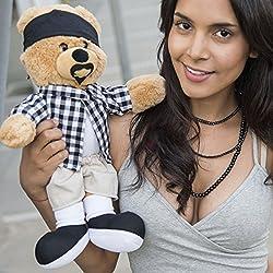 Hollabears Cholo Teddy Bear Plush - Funny and Cute Valentine's Day Gift Idea for the Girlfriend, Boyfriend, or Friend