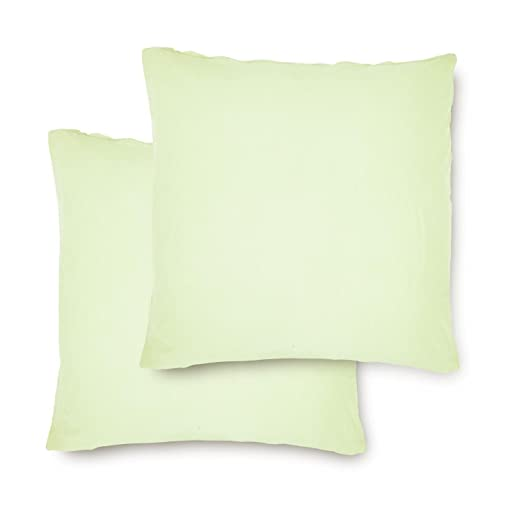 Lumaland Set 2 Fundas de Cojín-Almohada Jersey 100% algodón.Cremallera 50 x 50 cm. Menta