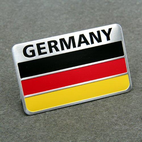 BENZEE Car Styling Accessories AM02 Emblem Badge Decal Car Sticker Racing Motorsport Germany German Flag Deutschland Volkswagen VW BENZ AUDI BMW BEAT PORSCHE SKODA OPEL 80X50 mm