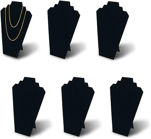 BeadaholiqueCA Velvet Necklace Easel Jewelry Display Black 12.5-Inch