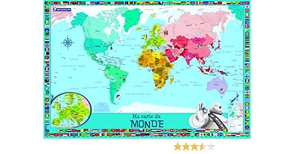 Ma Carte Du Monde Enfants Amazonca Collectif Collectif