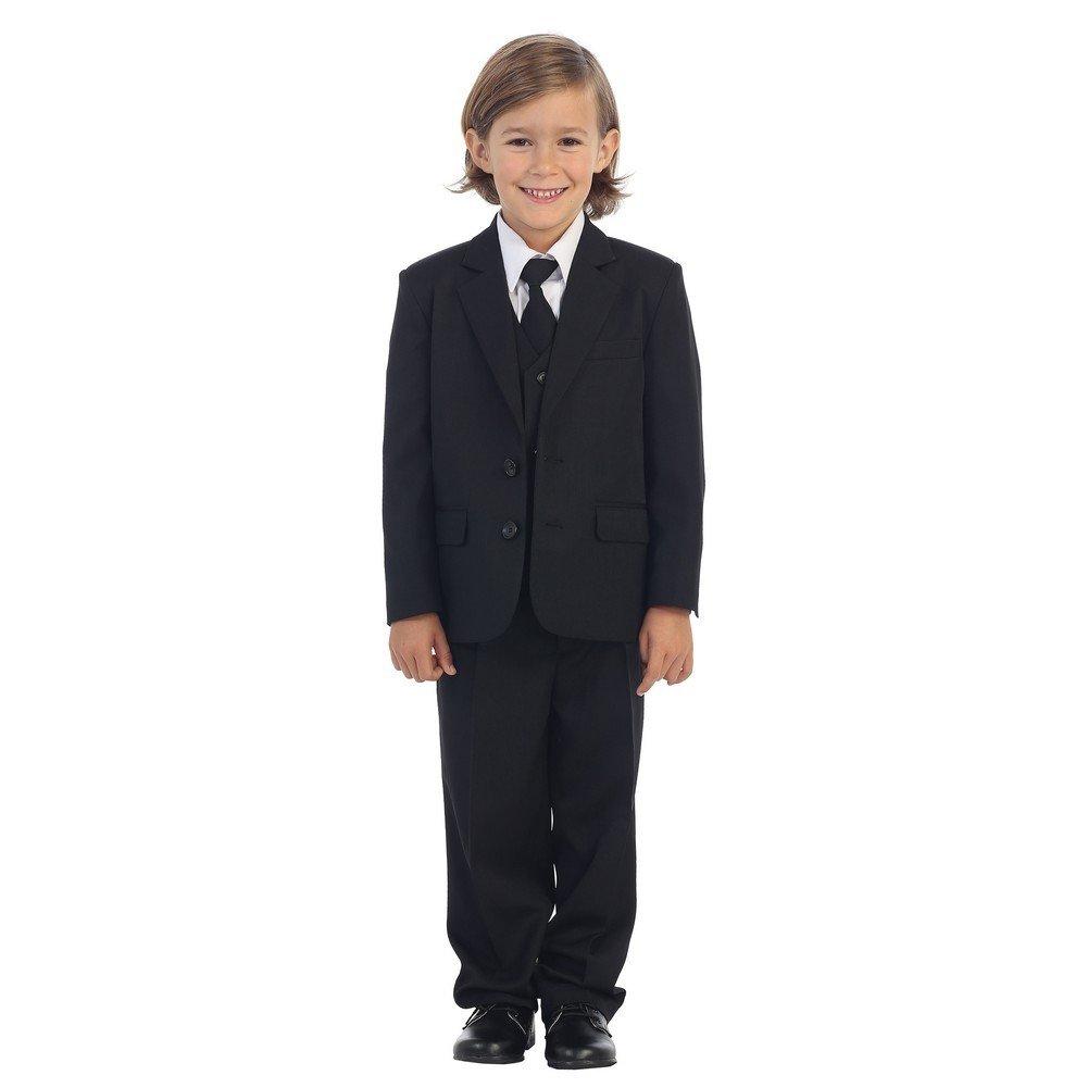 Tip Top Kids Baby Boys Black Jewels /& Gents Jacket Vest Shirt Tie Pants 5 Pc Suit 6-24M
