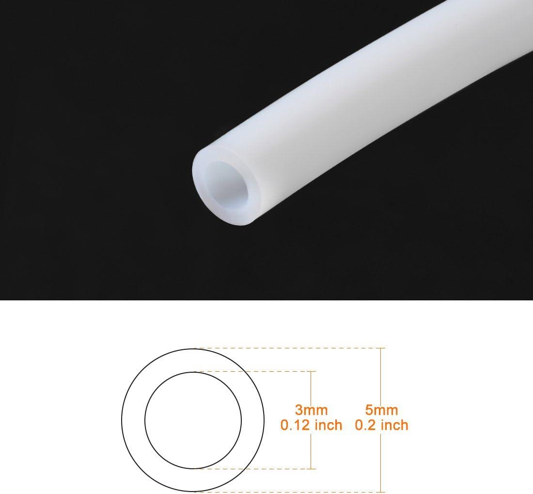tube PTFE Tube 2 m/ètre 6.56ft Long tuyau RepRap imprimante 3D 3mm D.E sourcing map 2mm D.I