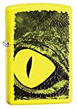 Zippo Alligator Eye Pocket Lighter, Neon Yellow