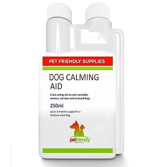 Pet Friendly Supplies Calming Aid for Dogs Producto Líquido, Mejor suplemento de calmantes para Mascotas para Reducir el Estrés, la Agresión, ...