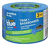 ScotchBlue 2093EL-24CVP Trim + BASEBOARDS Painters Tape.94 in x 60 yd, 3 Rolls, Blue
