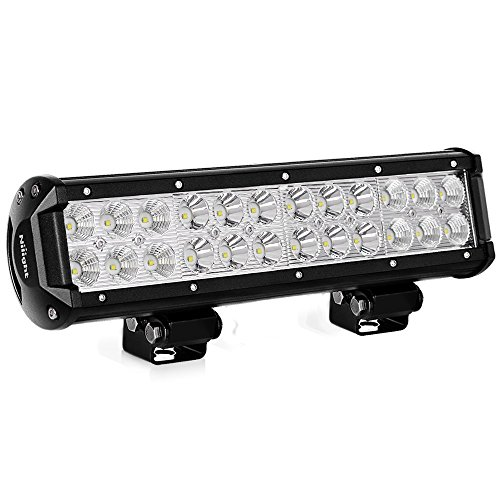 Nilight LED Light Bar 12 Inch 72W LED Work Light Spot Flood Combo LED Lights Led Bar Driving Fog Lights Jeep Off Road Lights Boat Lighting,2 Years ()