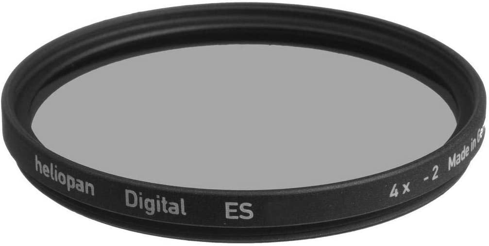 Heliopan 58mm Neutral Density 4x (0.6) Filter (705836) with specialty Schott glass in floating brass ring