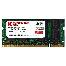 Komputerbay 4GB DDR2 SODIMM (200 pin) 800Mhz PC2 6400 / PC2 6300 CL 6.0