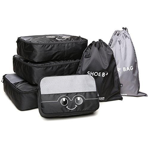 Packing Cube 6 Piece Luggage Compression Bag Travel Accessories Laundry Shoe (Saving The System)