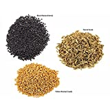 Jalpur Millers Spice Combo Pack - Yellow Mustard Seeds 100g - Black Mustard Seeds 100g - Cumin Seeds 100g (3 Pack)