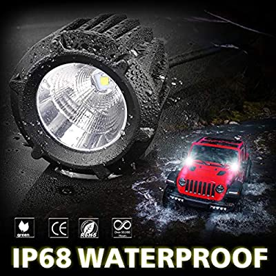 LED Pods, AKD Part 3.5 inch 50W LED Driving Lights Motorcycle Off Road Work Lights Round LED Combo Lights Motor LED Pods Lights Jeep Fog Lamp for Pickup ATV UTV Sand Truck: Automotive