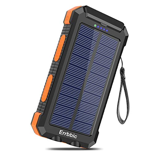 Solar Charger 30000mAh Portable Solar Power Bank for External Backup Battery Power Pack Charger Built-in Type C Input…