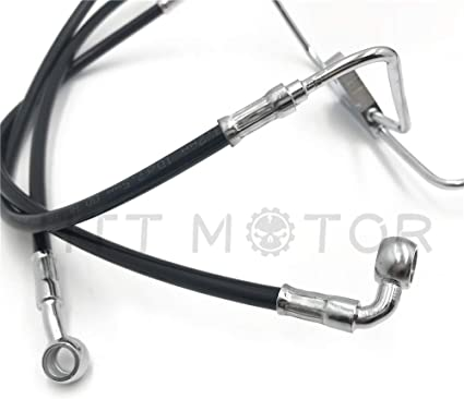 Chrome P//N: HBA003-I 10 Stainless Brake Cable Line Kit Compatible with 2008-2013 Harley Touring For 12 Monkey Handlebars HTTMT