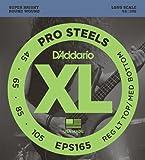 Best D'Addario Bottom Hybrids - D'Addario EPS165 ProSteels Bass Guitar Strings, Custom Light Review